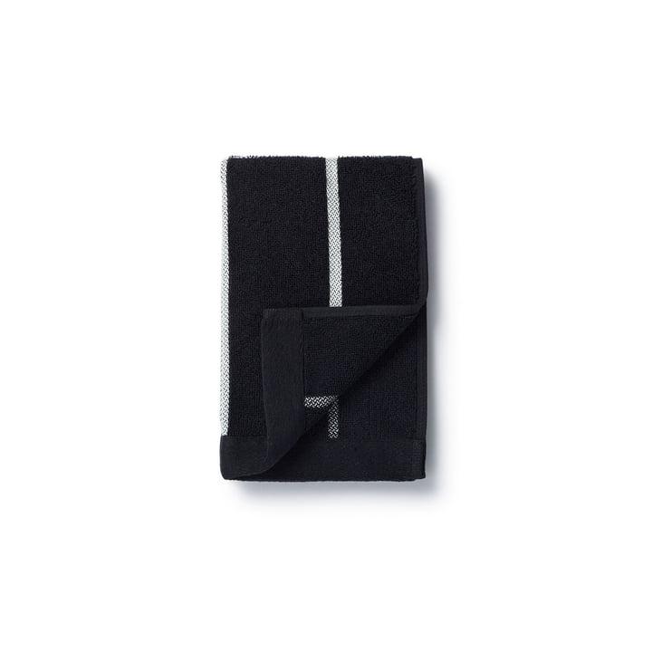 Marimekko - Tiiliskivi guest towel 30 x 50 cm in black/white
