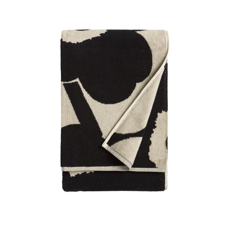 Marimekko - Unikko Bath Towel 75 x 150 cm in black