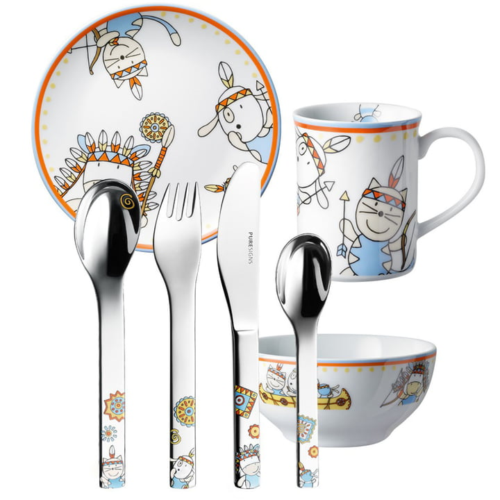 One Moema children's cutlery by Puresigns (7pcs.)