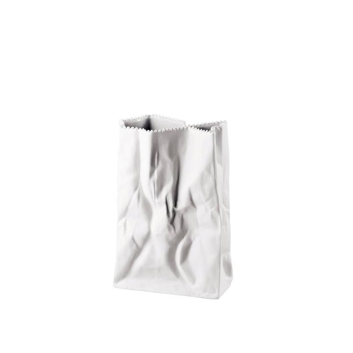 Rosenthal - Paper bag vase, 18 cm, white matt polished