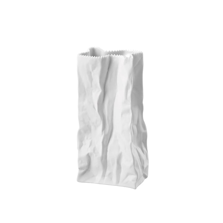 Rosenthal - Paper bag vase, 22 cm, white matt polished