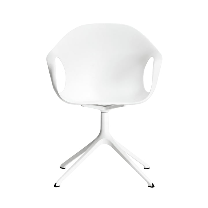 Kristalia - Elephant chair with wooden base in white