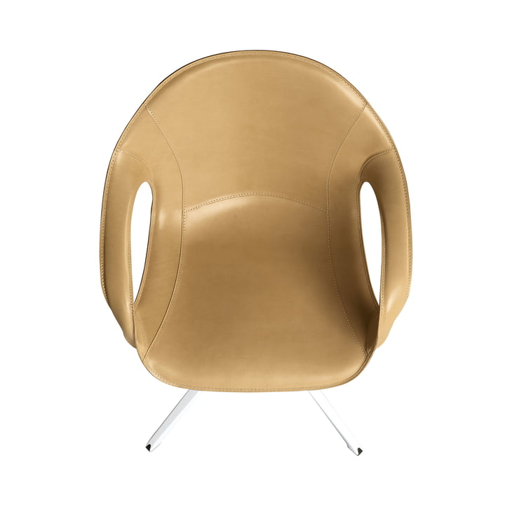 Swivel chair with leather cover