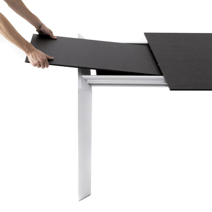 Extendable Dining Table in black and white