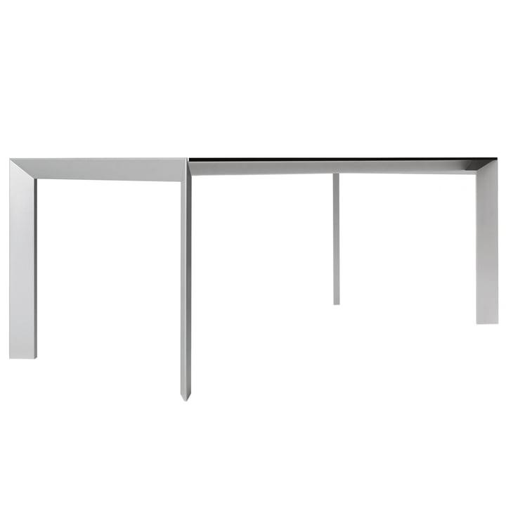 Kristalia - Nori table in grey with aluminium