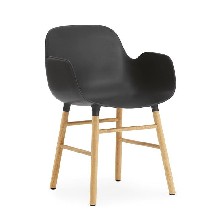 Normann Copenhagen - Form Armchair, Wood Legs, oak black