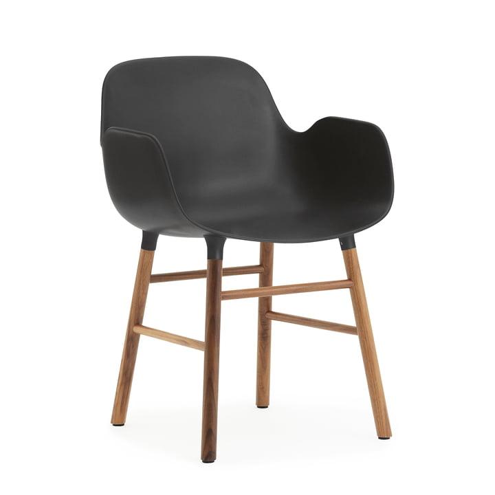 Normann Copenhagen - Form Armchair, Wood Legs, walnut / black