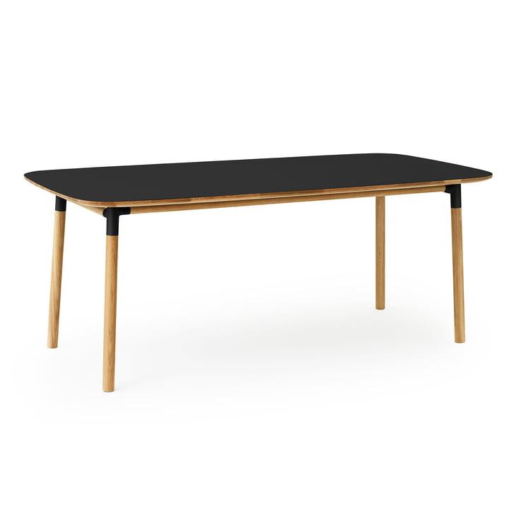 Form table 95 x 200 cm by Normann Copenhagen made of oak in black