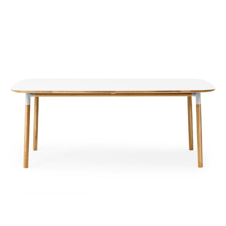 Form table 95 x 200 cm by Normann Copenhagen made of oak in white