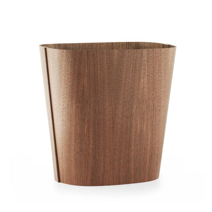 Tales of Wood paper bin by Normann Copenhagen made from walnut
