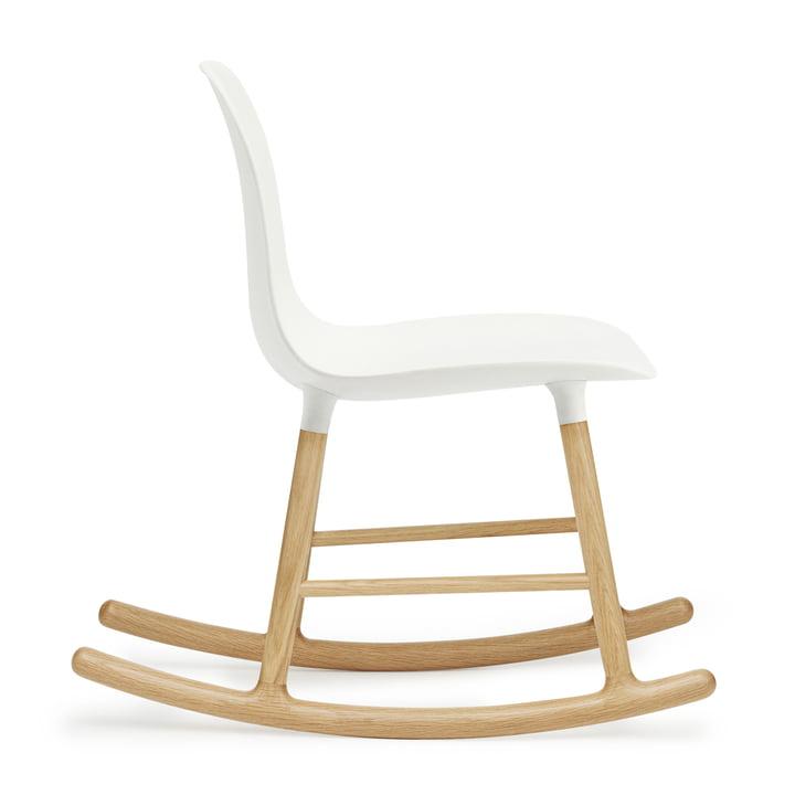 Form Rocking Chair by Normann Copenhagen made of oak in white