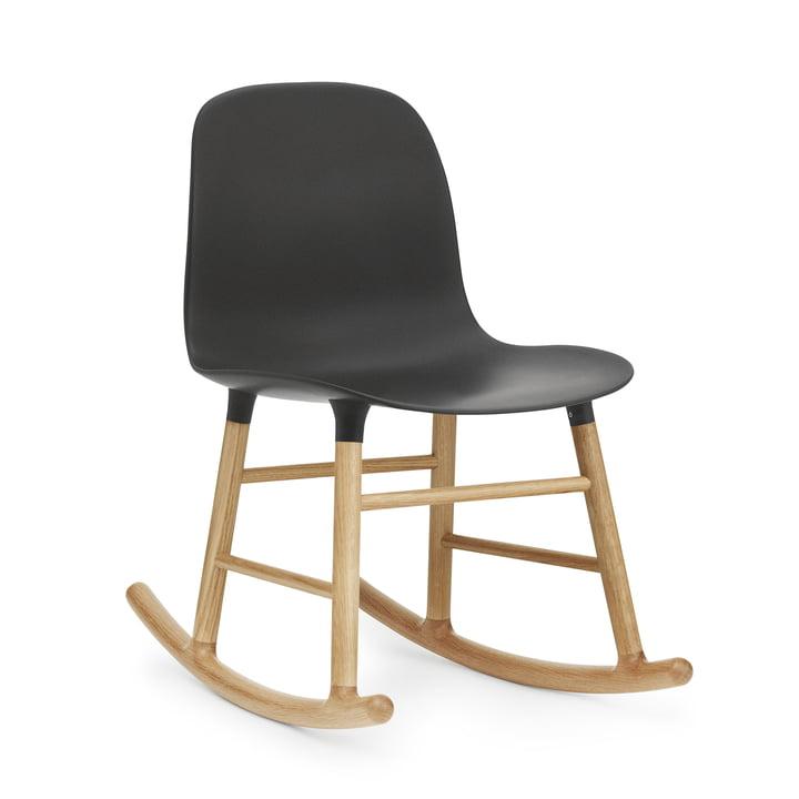 Form Rocking Chair by Normann Copenhagen made of oak in black
