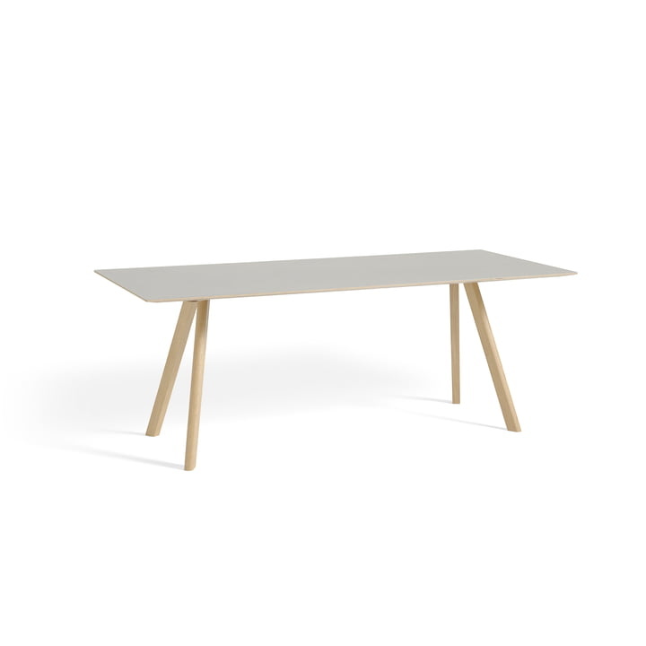 Hay - Copenhague CPH30 Table 200 x 90 cm, matt lacquered oak / table top off-white (Mushroom 4176)