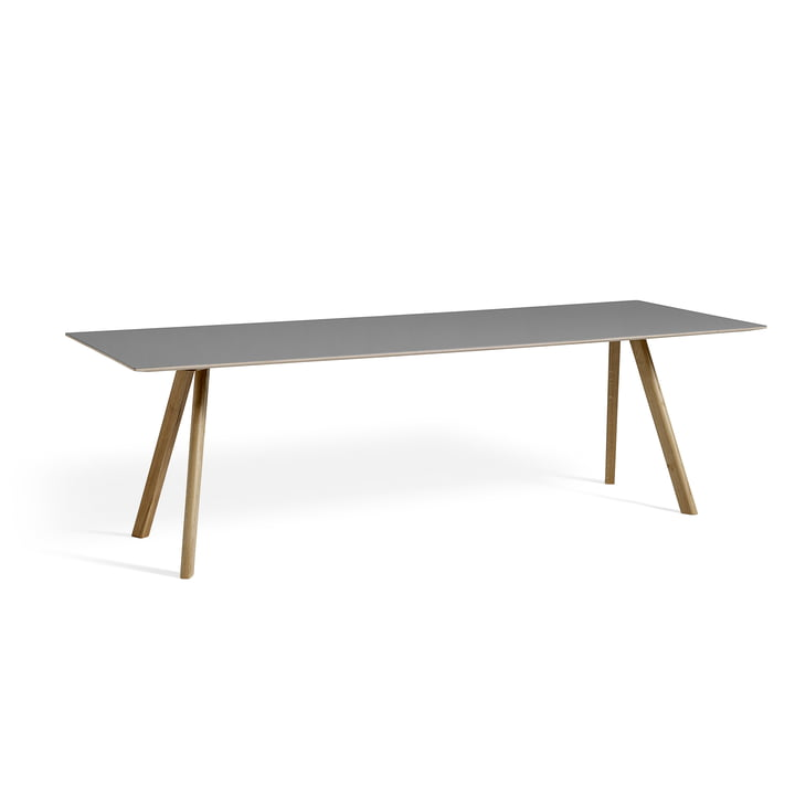 Hay - Copenhague CPH30 Table 250 x 90 cm in Soaped Oak / Grey Linoleum (Ash 4132)
