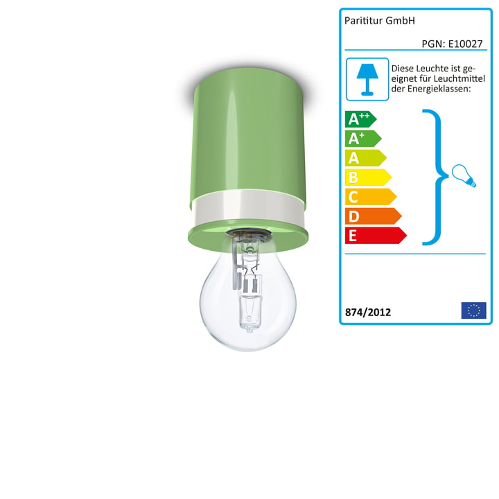 Ceiling lamps Colours by Twister Lighting in green