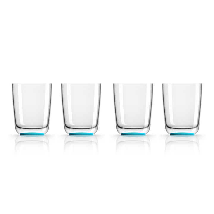 Long Drink Glass 425 ml (set of 4) by Palm Products in blue