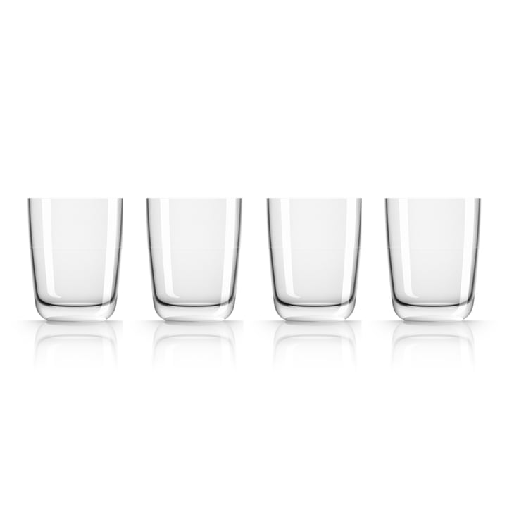 Long Drink Glass 425 ml (set of 4) by Palm Products in white