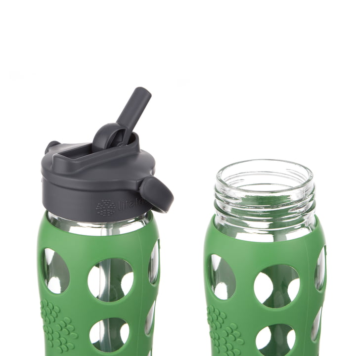 Glass Bottle 0 6 L With Straw Cap By Lifefactory