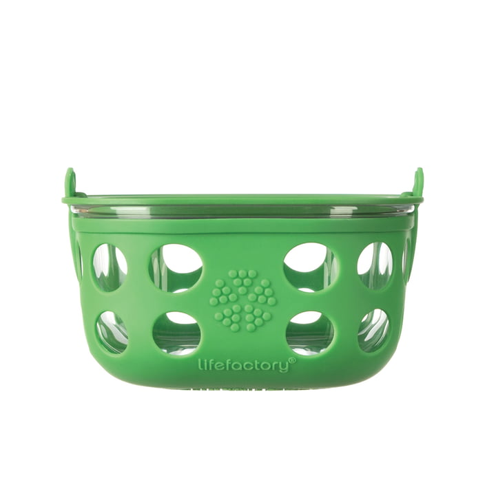 Glass Food Container 0.9 l by Lifefactory in green