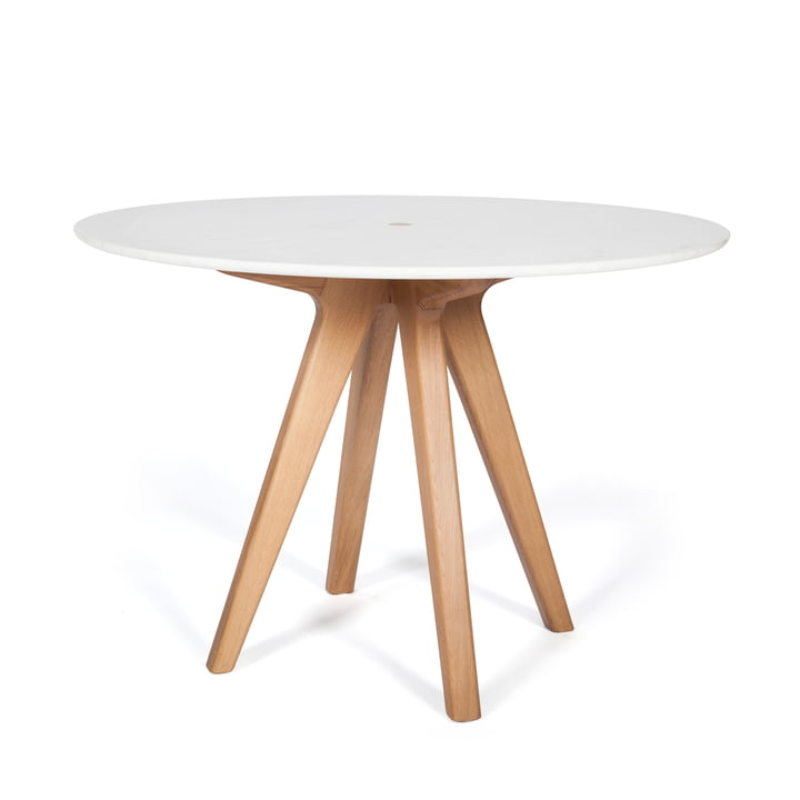 Arthur Dining Table by the Hansen Family made of oak and marble