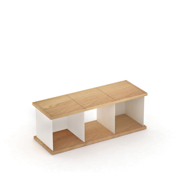 YU set 1 by Konstantin Slawinski made of oiled oak and brushed steel white