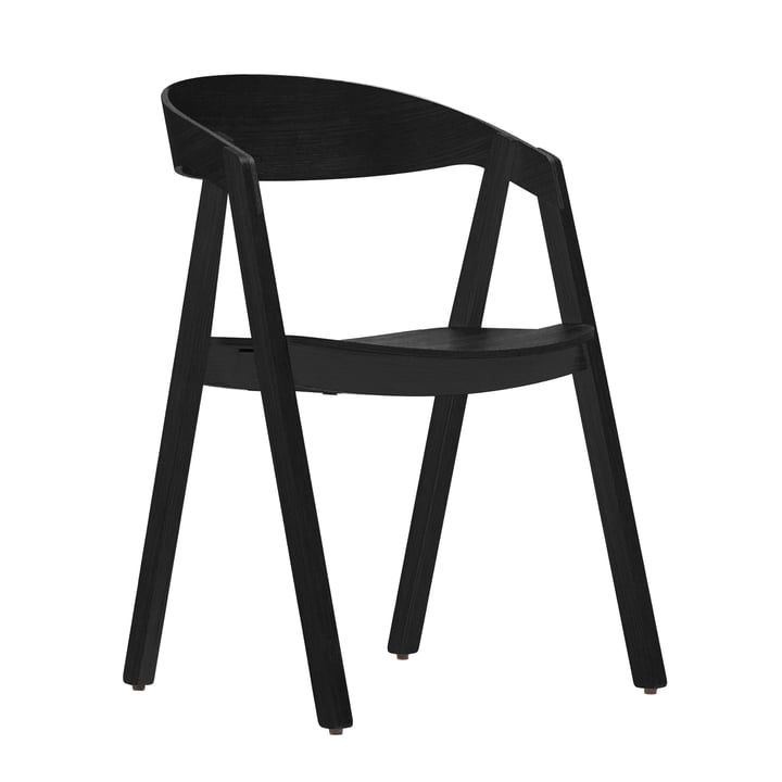 Maigrau - Nardo chair, oak natural, black varnished