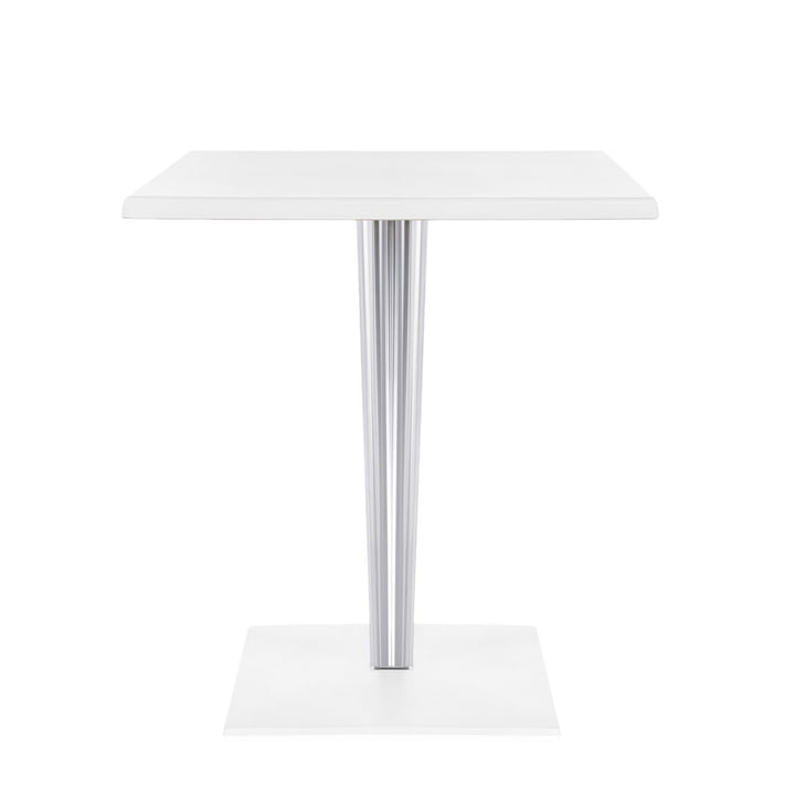 Top Top Table 60 x 60cm by Kartell in matte white