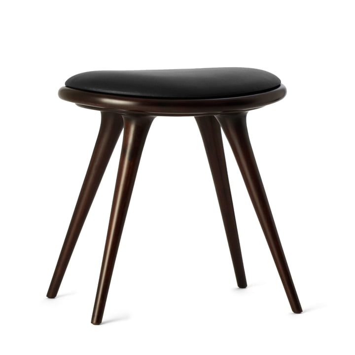 Stool by Mater made from dark stained beech wood