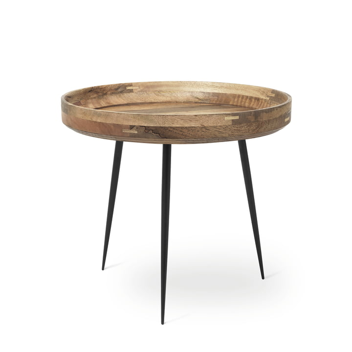 Bowl Table in large by Mater made from mango wood in natural colour