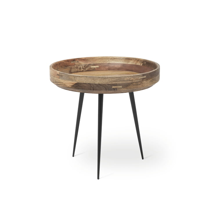 Bowl Table in small by Mater made from mango wood in natural colour