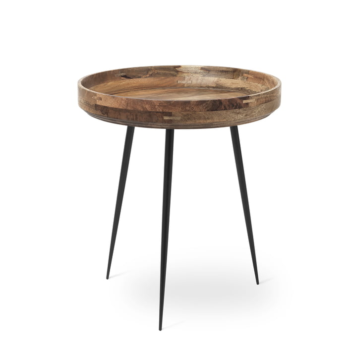 Bowl Table in medium by Mater made from mango wood in natural colour
