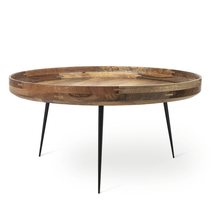 Bowl Table in XL by Mater made from mango wood in natural colour