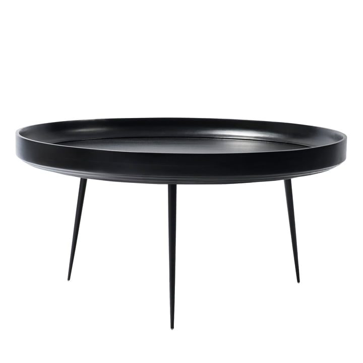 Bowl Table in XL by Mater made from mango wood in black