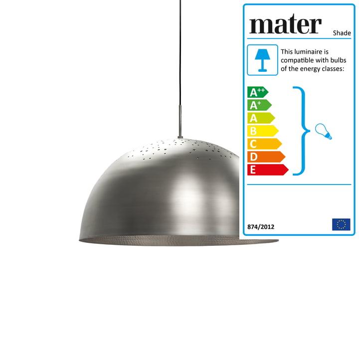 Shade Pendant Lamp Ø 40 cm by Mater in aluminium