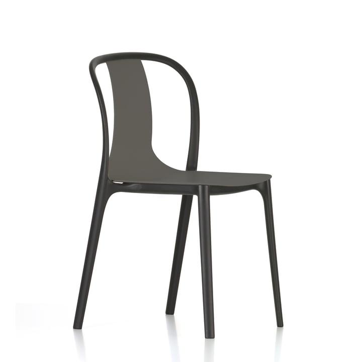 Belleville Chair Plastic by Vitra in basalt