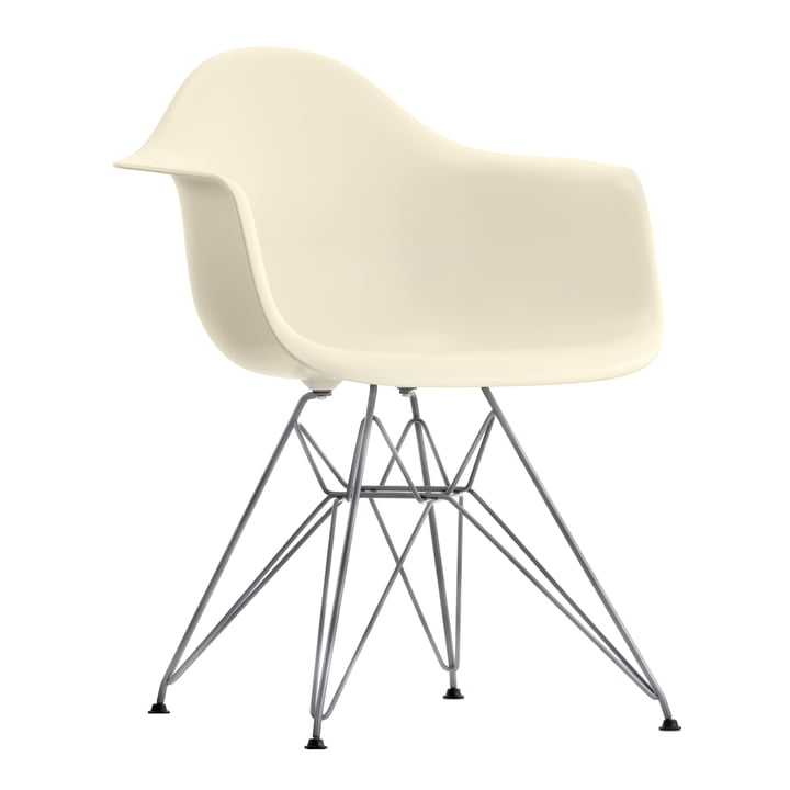 Vitra - Eames Plastic Armchair DAR in cream