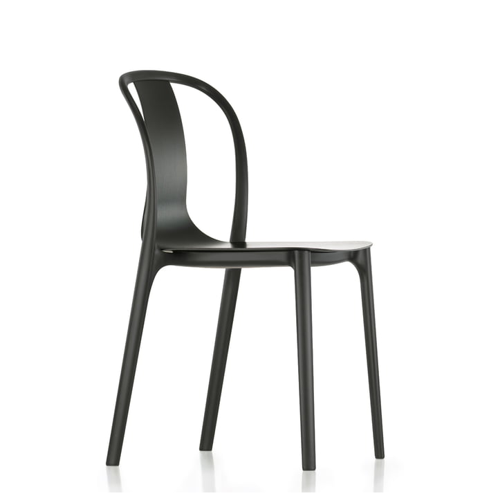 Belleville Chair Wood by Vitra in dark oak