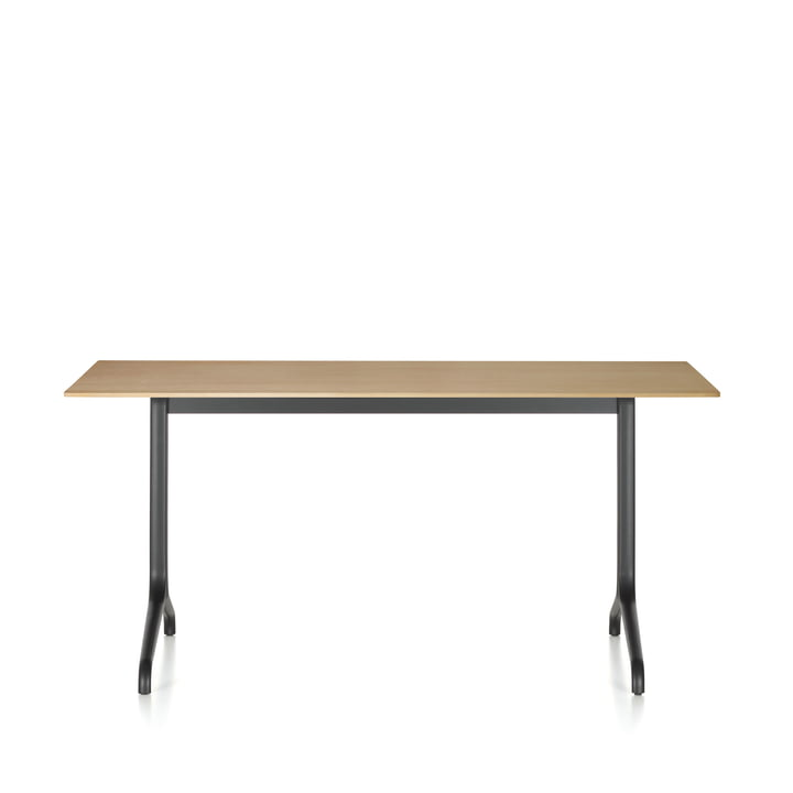 Belleville dining table indoor, rectangular, 160 x 75 cm by Vitra in light oak veneer