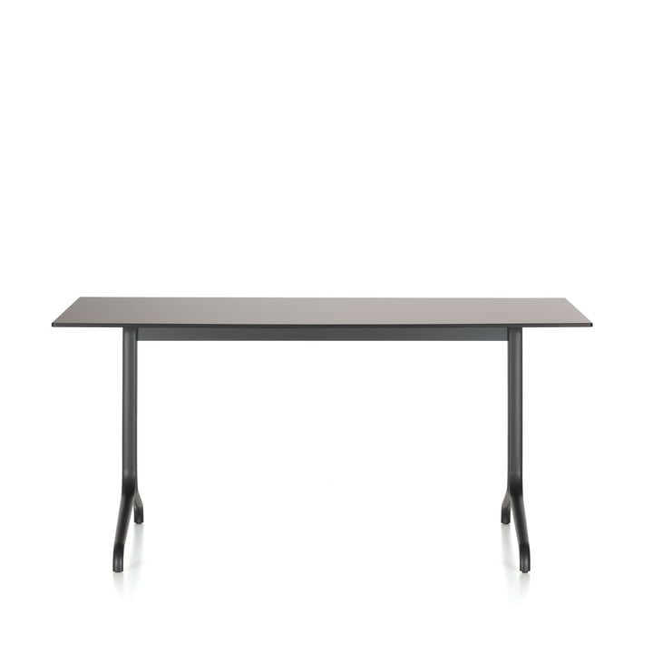 Belleville dining table indoor, rectangular, 160 x 75 cm by Vitra in black