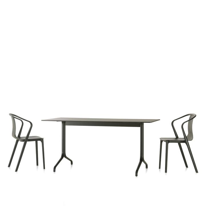 Vitra - Belleville dining table indoor, rectangular, 160 x 75 cm