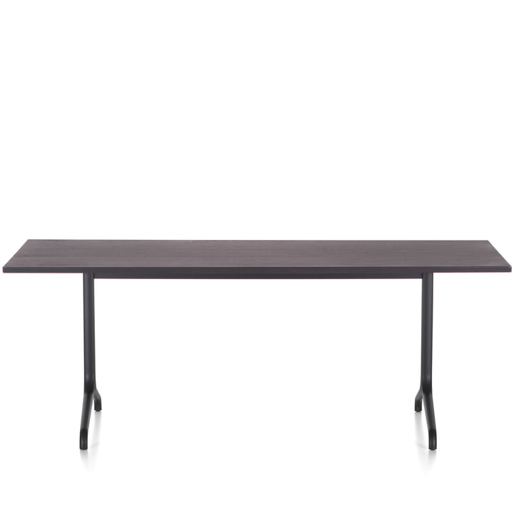 Belleville dining table indoor, rectangular, 200 x 80 cm by Vitra in smoked oak