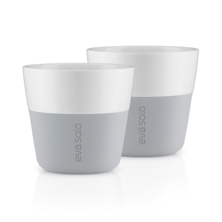 Caffé Lungo cups (set of 2) by Eva Solo in marble gray