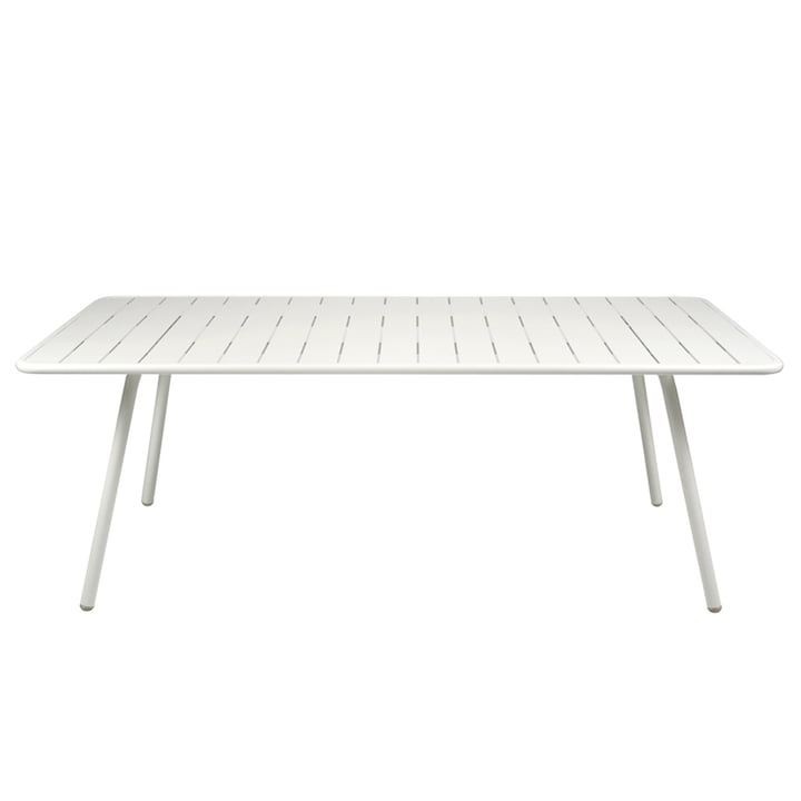 Luxembourg Table 100 x 207 by Fermob in cotton white