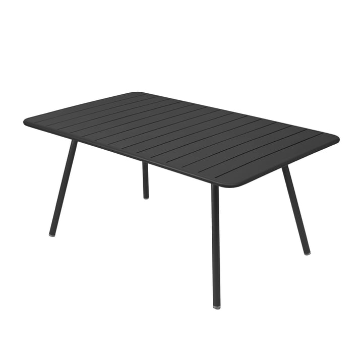 Luxembourg Table 165 x 100 cm by Fermob in anthracite
