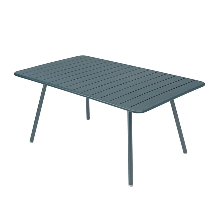 Luxembourg Table 165 x 100 cm by Fermob in thunder grey