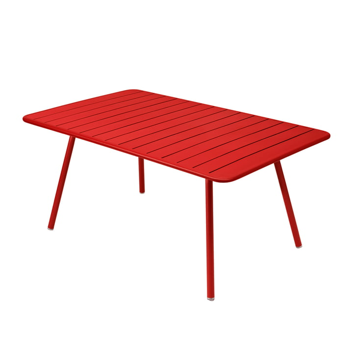 Luxembourg Table 165 x 100 cm by Fermob in poppy red