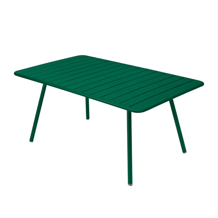 Luxembourg Table 165 x 100 cm by Fermob in cedar green