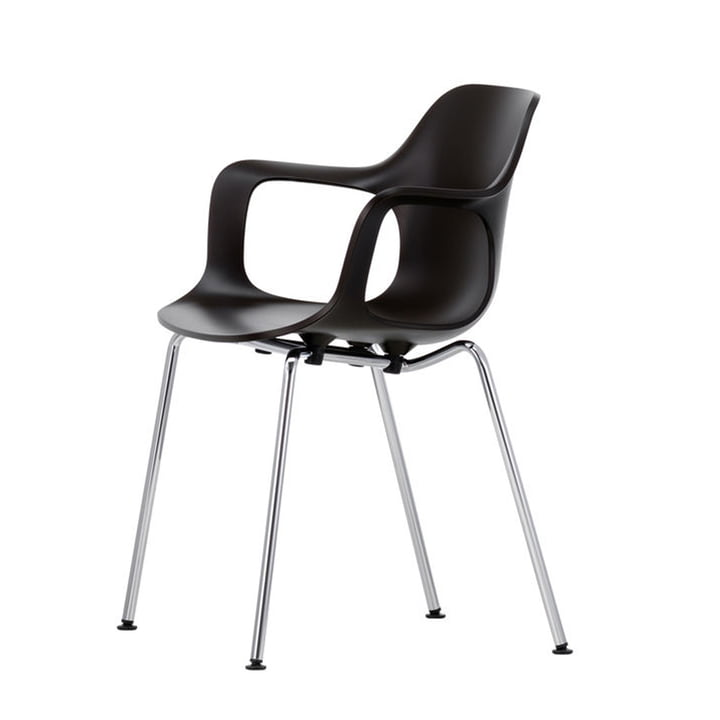 Vitra - Hal Tube Armchair, chrome-plated / basic dark