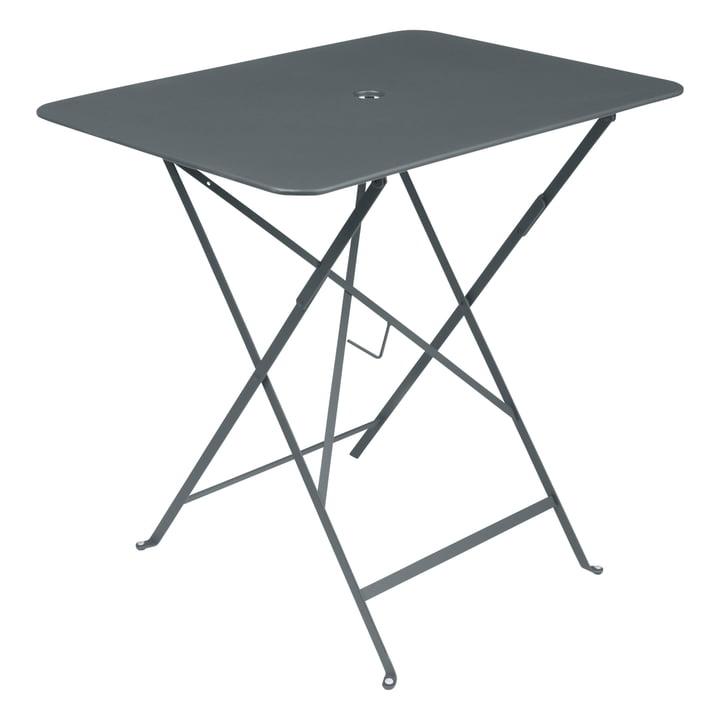 Fermob - Bistro folding table, rectangular, 77 x 57 cm, storm grey