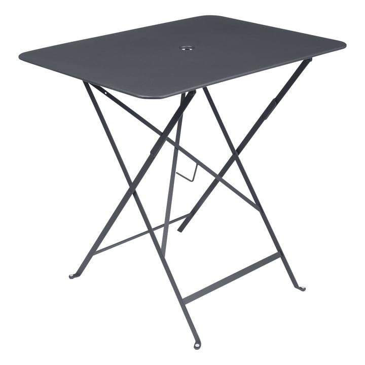Bistro Folding table 77 x 57 cm from Fermob in anthracite